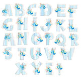 Sea alphabet Royalty Free Stock Photo