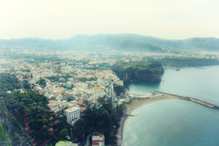 Sea in Amalfi Coast Stock Image