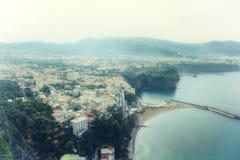 Sea in Amalfi Coast Stock Image