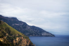 Sea in Amalfi Coast Royalty Free Stock Photos
