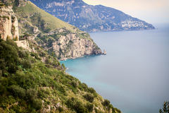 Sea in Amalfi Coast Royalty Free Stock Photo