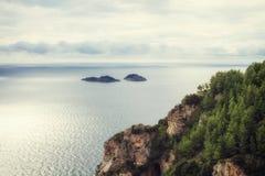 Sea in Amalfi Coast Stock Images
