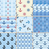 Sea anchor pattern Royalty Free Stock Photo