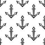 Sea anchor seamless pattern Stock Photography