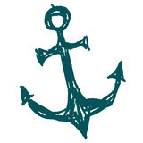 Sea anchor stylized vector illustration Stock Photo