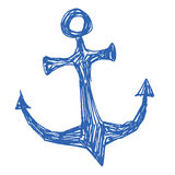Sea anchor stylized vector illustration Royalty Free Stock Photo