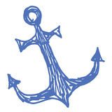 Sea anchor stylized vector illustration Royalty Free Stock Images