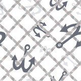 Sea-anchors and nets pattern. Stock Photography