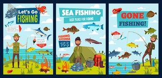 Free Sea And Lake Fishing, Fisherman Camp, Fish Catch Stock Image - 158630921