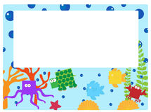 Sea animal border Stock Images