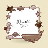 Sea animal flat icon design Stock Image