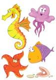 Sea animals stock illustration