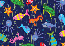 Sea animals. Background illustration of colorful sea animals Stock Image