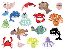 Sea animals Stock Image