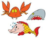 Sea animals vector illustration