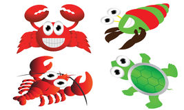 Sea animals cartoon Stock Photos
