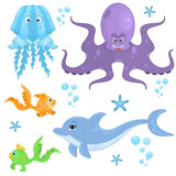 Sea Animals Collection Royalty Free Stock Photography