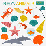 Sea animals icon Royalty Free Stock Photos