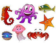 Sea Animals Isolated Stock Image