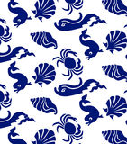Sea animals seamless Stock Photo