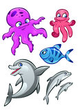 Sea animals Royalty Free Stock Photo