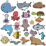 Sea animals Stock Images