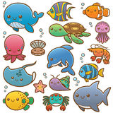 Sea animals. Vector Illustration of Sea animals Cartoon Stock Images