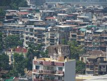 A sea of apartment buildings, Macau royalty free stock images