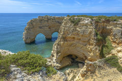 Sea Arch in Algarve, Portugal. Sea Arch in Praia da Marinha in Algarve, Portugal Stock Images