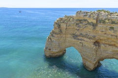 Sea Arch in Algarve, Portugal Royalty Free Stock Photos
