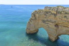 Sea Arch in Algarve, Portugal. Sea Arch in Praia da Marinha in Algarve, Portugal Royalty Free Stock Photos