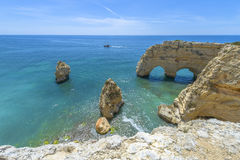 Sea Arch in Algarve, Portugal Royalty Free Stock Images