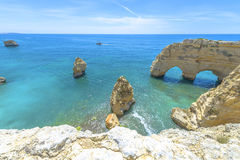 Sea Arch in Algarve, Portugal Stock Image