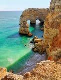 Sea Arch in Algarve, Portugal. Sea Arch in Praia da Marinha in Algarve, Portugal Stock Image