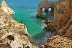 Sea Arch in Algarve, Portugal. Sea Arch in Praia da Marinha in Algarve, Portugal Stock Photography