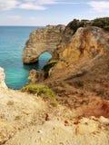 Sea Arch in Algarve, Portugal. Sea Arch in Praia da Marinha in Algarve, Portugal Royalty Free Stock Image