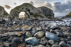 Low Tide at the Sea Arch royalty free stock photo