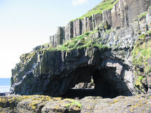 Sea arch near Carsaig, Mull. Scotland Royalty Free Stock Photography