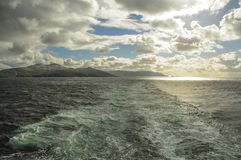 SEA AROUND CAPE HORN Stock Photo