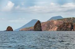 Sea around Vulcano island Stock Image