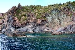 Sea around Vulcano island - Venus pool royalty free stock photos