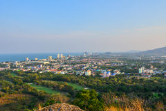 Sea  asia countryside houses huahin Royalty Free Stock Photos