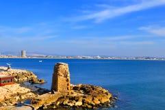 Sea At Acre Stock Photo