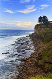 Sea Avalon cliff vertical Stock Photography