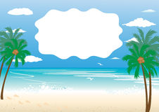 Sea background Royalty Free Stock Image