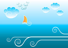 Sea background Stock Image