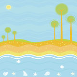Sea background Royalty Free Stock Photography
