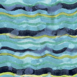 Sea background. Abstract Sea Background of watercolor hand painted Blue Waves with paper texture in high resolution royalty free illustration