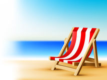 Sea background with beach chair Stock Photos