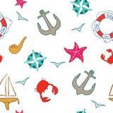 Sea background cartoon. Sea seamless background cartoon, fun stock illustration